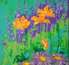 Maleri - Blomsterbed Jardin Fleuri 2005 - Billedkunstner Odder Lars Stounberg