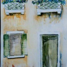 Titel: Facede Venedig akvarel 42 x 33 cm 2002 - Billedkunstner Odder Lars Stounberg