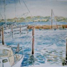 Titel: Glud akvarel 41 x 53 cm 2002 Billedkunstner Odder Lars Stounberg
