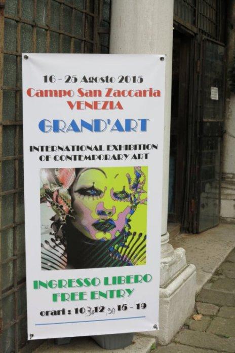 Indgang til Grand'Art Venezia 2015