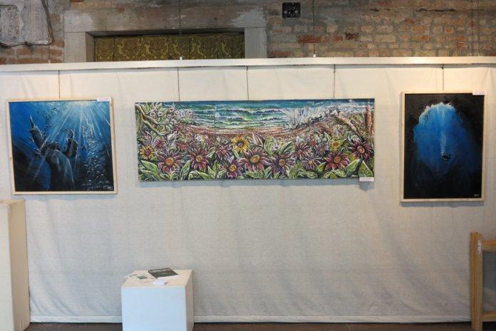 Malerier af kunstneren Matteo Malingambi på udstillingen Grand'Art Venezia 2015