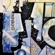 Titel: Greece acryl 60x80 cm 2001 - Billedkunstner Odder Lars Stounberg