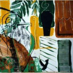 Titel: Greece gouache 60 x 50 cm 1999 - Billedkunstner Odder Lars Stounberg