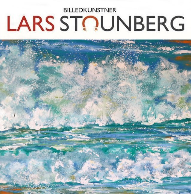 Maleri Skumsprøjt Vesterhavet 2016 malet af Billedkunstner Odder Lars Stounberg