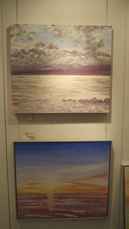 Hillerød Kunstdage 2015 - Lars Stounbergs malerier fra stranden ved Ballehage