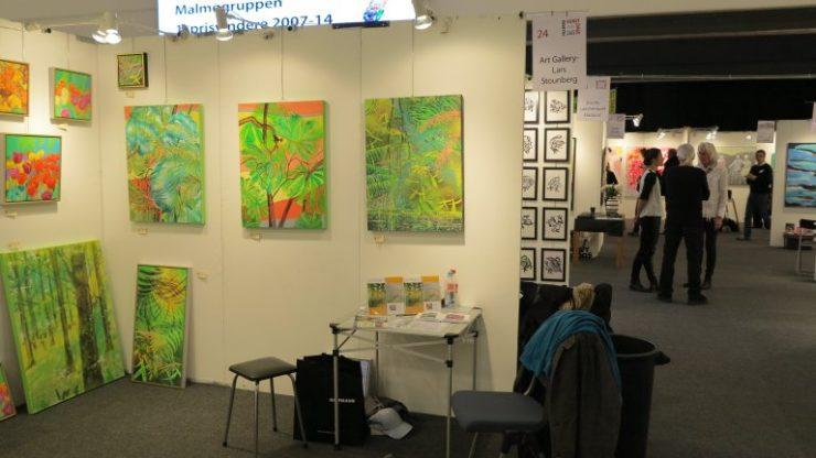 Hillerød Kunstdage 2015 - Lars Stounbergs malerier med regnskov