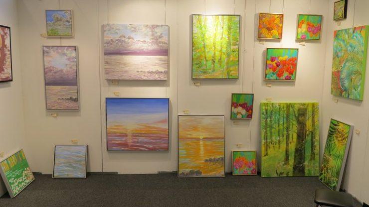 Hillerød Kunstdage 2015 - Lars Stounbergs stand med malerier af natur