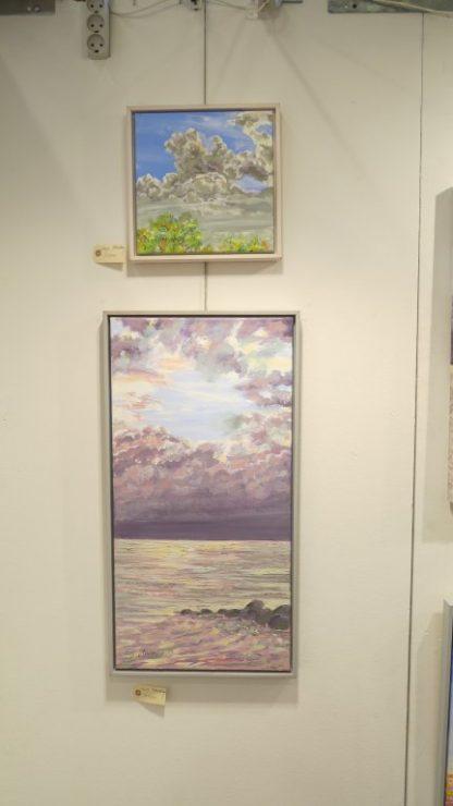 Hillerød Kunstdage 2015 - Lars Stounbergs malerier med skyer