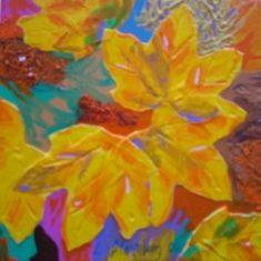 Efterårsblade - 20x20 - acryl - Lars Stounberg