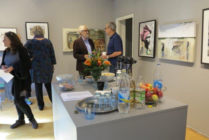 Fernisering på udstillingen - Konst på kryss i Helsingborg Konstförening 2015
