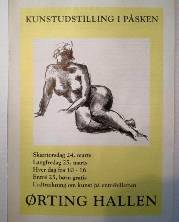 Kunstudstilling i påsken Ørting Hallen 2017