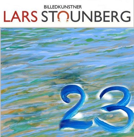 Julekalender kunst, malerier og croquis-tegninger - maleri vandspejlinger hav af billedkunstner Lars Stounberg