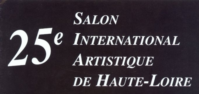 Catalogue frontpage - 25eme Salon International Artistique de Haute-Loire 2004, Frankrig