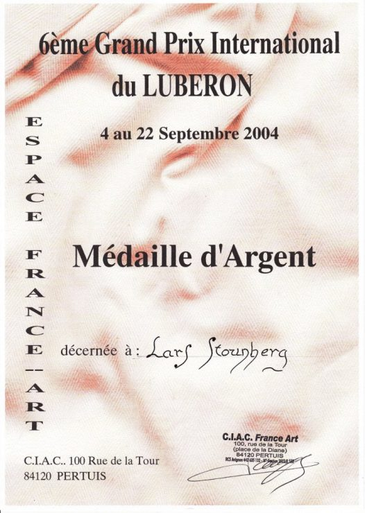 6éme Grand Prix International du Luberon 2004 - diplom for sølvmadalje.