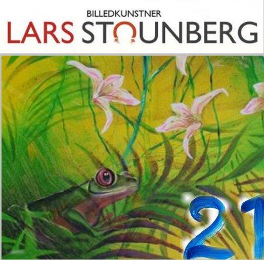 Julekalender kunst, malerier og croquis-tegninger - maleri med frø regnskov - Lars Stounberg