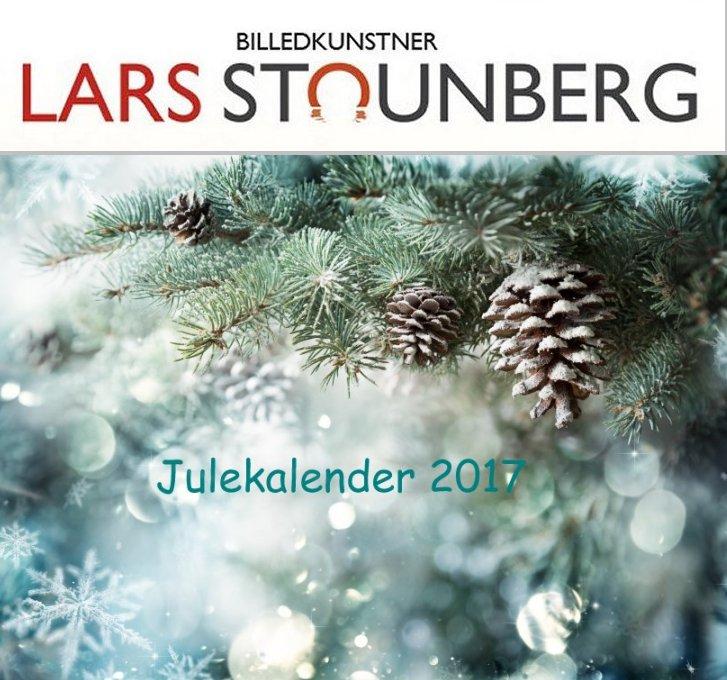 Julekalender med malerier og croquis-tegninger 2017 af billedkunstner Lars Stounberg