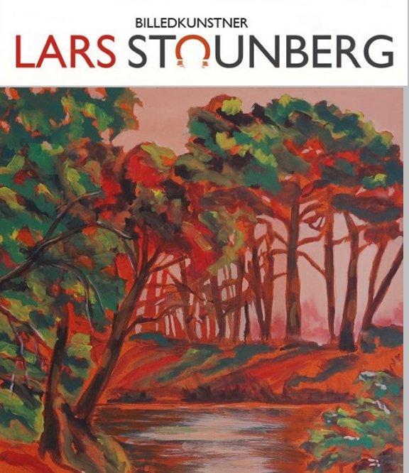 Malerier natur - aftenstemning billedkunstner Lars Stounberg