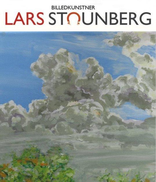 Malerier skyer og himmel af billedkunstner Lars Stounberg