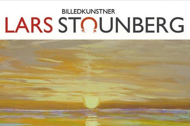 Maleri skyer solopgang malet af Lars Stounberg