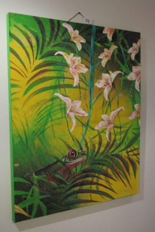 Maleri Troperne 80x100 med på udstillingen Boulevarden Odder 2017