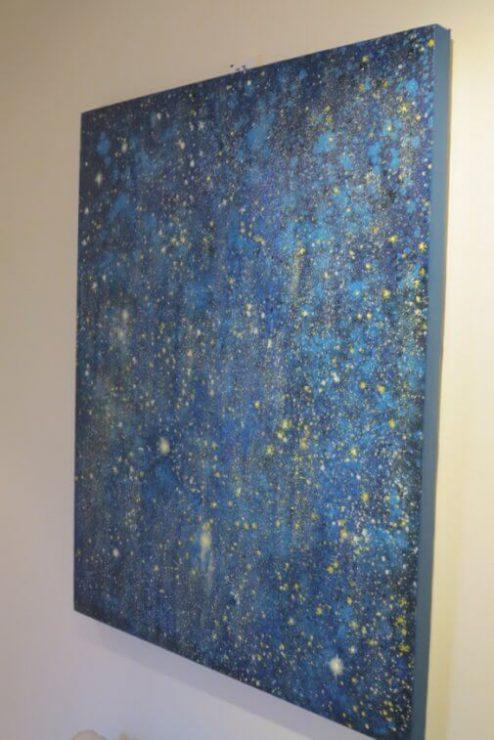 Udstilling Maleri Stjernehimmel 80x100 med på udstillingen Boulevarden Odder 2017