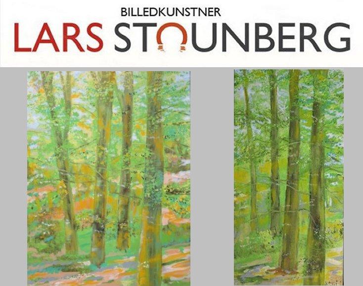Malerier bøgeskov Vejlskoven Odder af billedkunstner Lars Stounberg