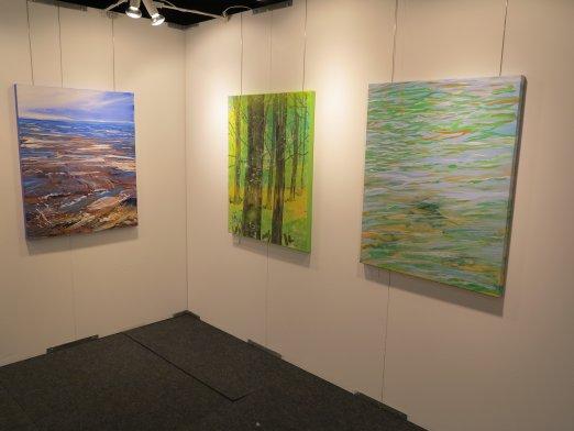 Hillerod Kunstdage 2013 - Lars Stounbergs stand - malerier af natur
