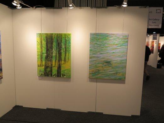 Hillerod Kunstdage 2013 - Lars Stounbergs stand - maleri vandspejl og bøgeskov