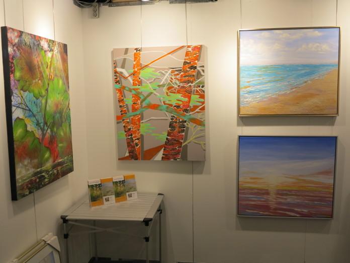 Lars Stounbergs stand maleri birketræ - Hillerod Kunstdage 2014