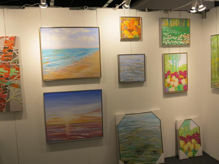 Lars Stounbergs stand malerier - Hillerod Kunstdage 2014