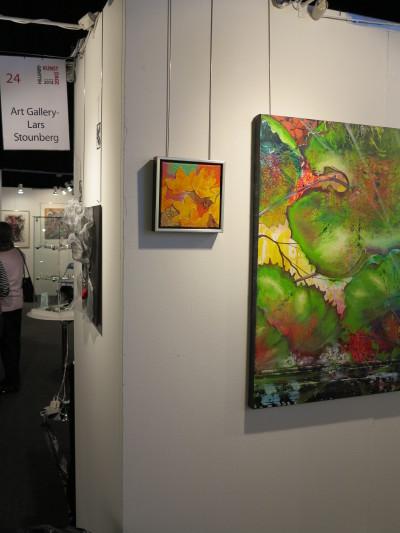 Lars Stounbergs stand maleri regnskov - Hillerod Kunstdage 2014