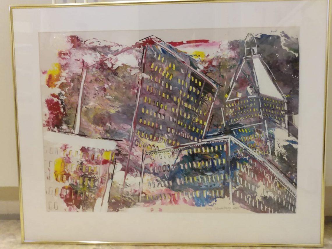 Julekalender 2019 New York Gouache maleri maler 2001 af Lars Stounberg
