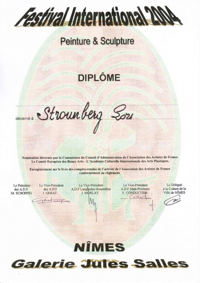 Diploma for participation