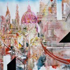 Titel: Old and new acryl 50 x 60 2001 - Billedkunstner Odder Lars Stounberg