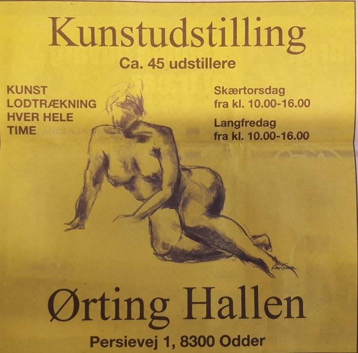 Kunstudstilling Ørting Hallen Påsken 2016 - Billedkunstner Odder Lars Stounberg