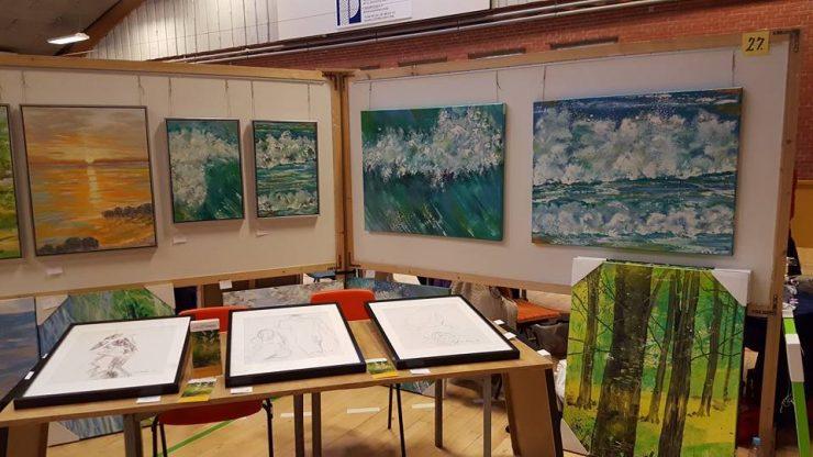 Malerier med natur - bøgeskov og hav - kunstner Lars Stounberg