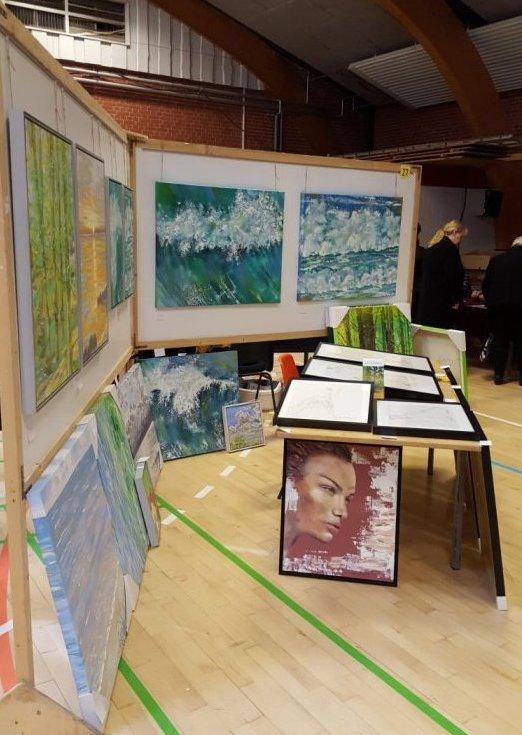 Maleri smuk kvinde Kunstudstilling Ørting Hallen 2017 - Lars Stounberg