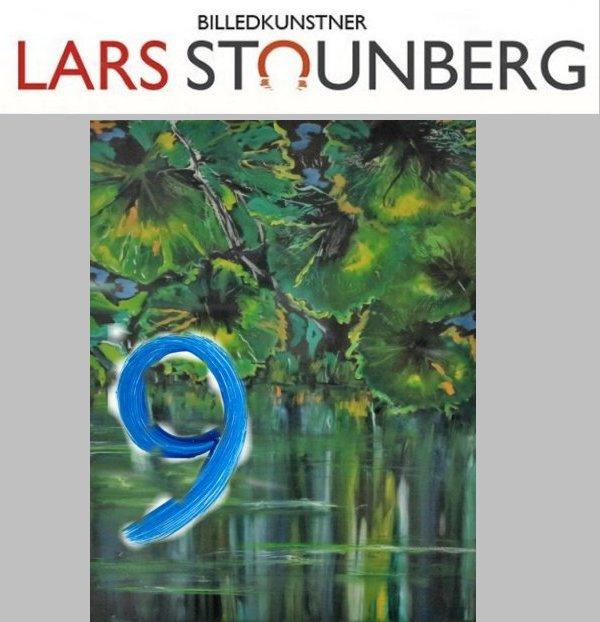 Maleri vandspejlinger sø - malet af Lars Stounberg