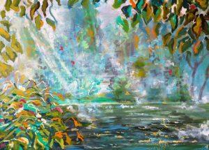 Maleri morgendis 2016 af Lars Stounberg