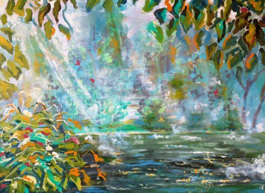 Maleri morgendis 2016 af Kunstner Odder Lars Stounberg - moderne naturalist