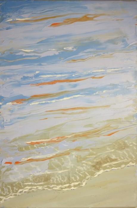 Havmaleri - Strandstemning Ballehage 2015 - Kunstner Odder Lars Stounberg
