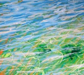Maleri vandreflekser hav 2016 - Lars Stounberg