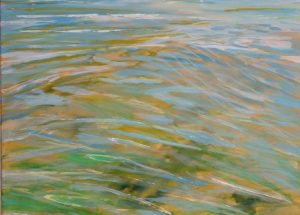 Havmaleri vandspejlinger - reflekser i vandet - Billedkunstner Odder Lars Stounberg 2012