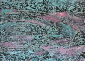 Moderne havmaleri ringe i vandet 2015 - Billedkunstner Odder Lars Stounberg