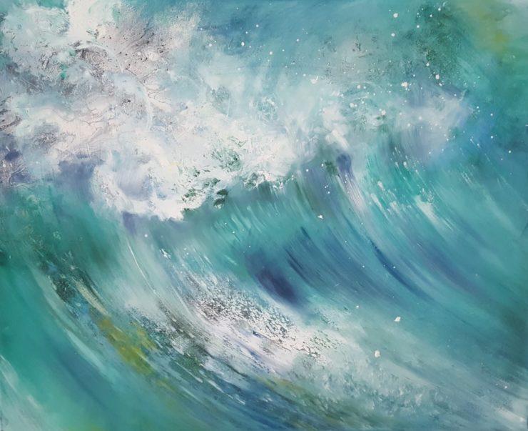 Maleri bølger havet af Lars Stounberg 2016
