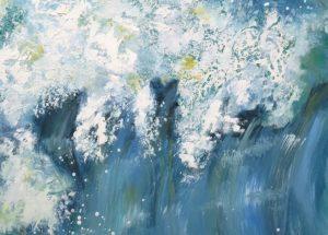 Moderne havmaleri bølgen 2016 - Kunstner Odder Lars Stounberg