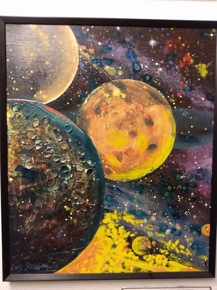 Julekalender 2019 maleri planeter Lars Stounberg