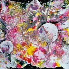 Titel: Planets gouache 50 x 71 cm 2001 - Billedkunstner Odder Lars Stounberg