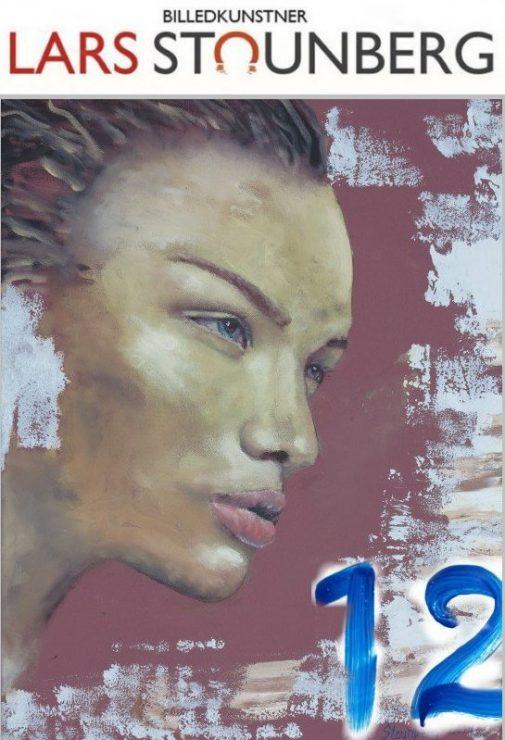 Maleri Smuk kvinde julekalender Lars Stounberg
