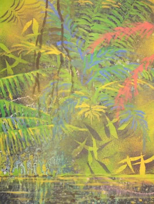 Farverig moderne maleri - Regnskov Kunstner Odder Lars Stounberg 2015